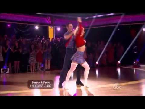 James Maslow y Peta Murgatroyd-Bailando Jive