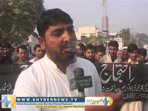 Akhorwal tribe of Darra Adam Khel protested for their right on cool resources Report by Gul Hayan