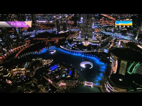 1080 HD Dubai New Year Celebration 2013   Burj Khalifa Fireworks   Happy New Year Dubai 2012 2013