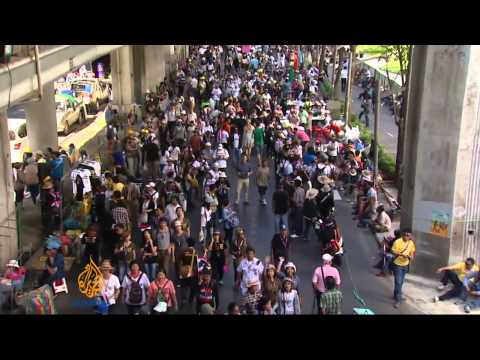 Bangkok shutdown protests under way