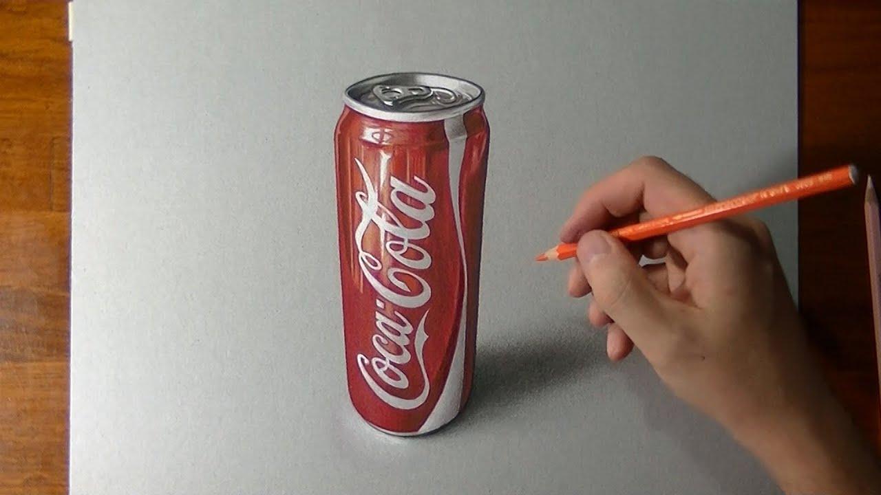 Comment dessiner une canette slim de Coca-Cola ?