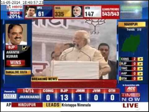 Narendra Modi Victory Speech - Part 2