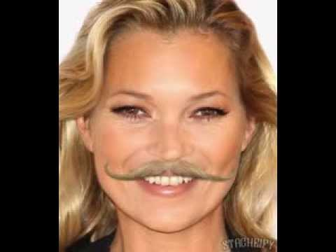 Happy Birthday to Kate Moss (with a mustache)!