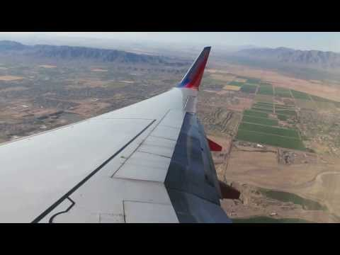 Southwest Airlines B737-700 Landing in Phoenix Sky Harbor Intl
