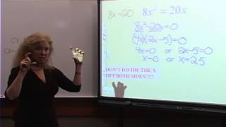 College Algebra: Lecture 11 - Solving Quadratic Equations