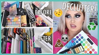 COLOURFUL Eyeshadow Palettes 🔪 ORGANIZE AND DECLUTTER MY MAKEUP COLLECTION! 😏