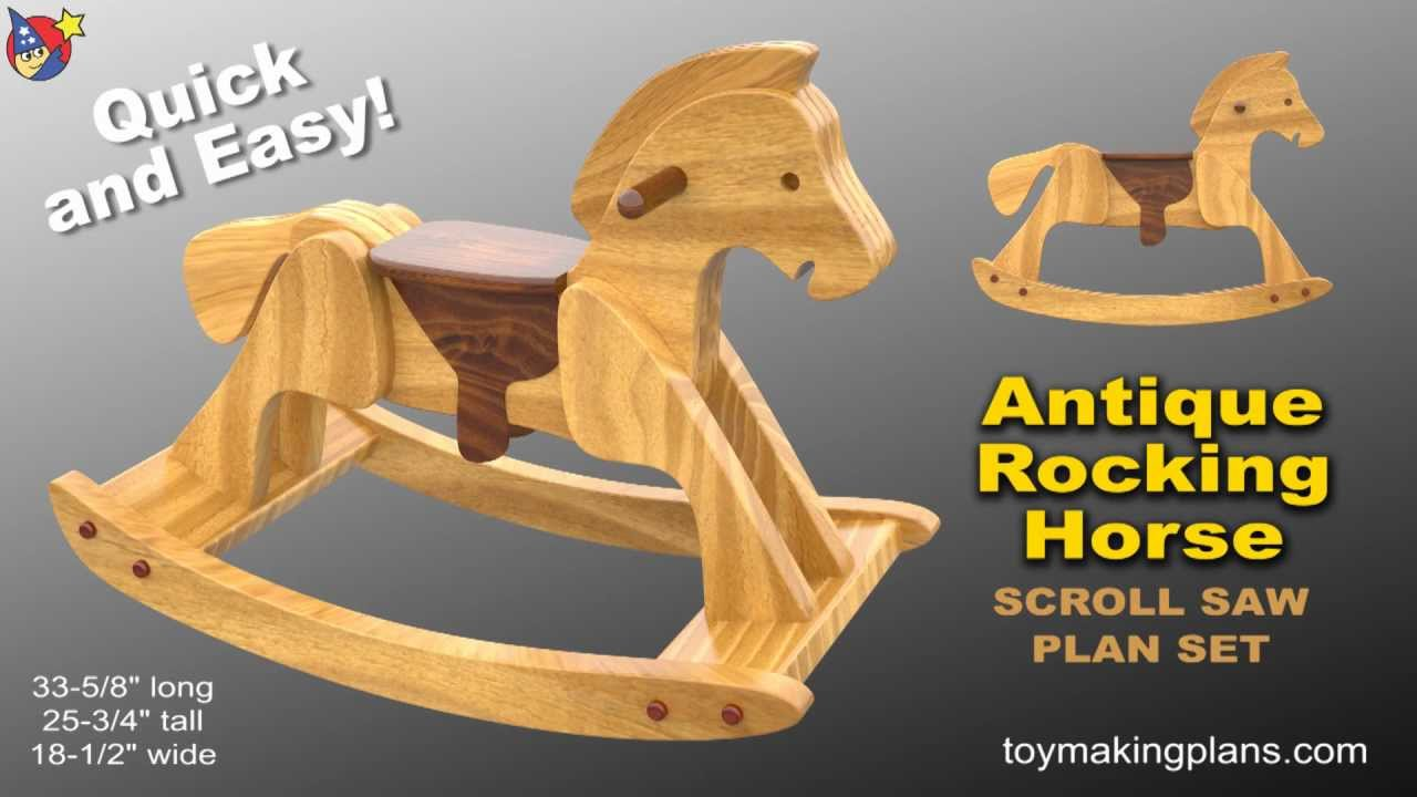 Wood Toy Plans - Heirloom Rocking Horse - YouTube