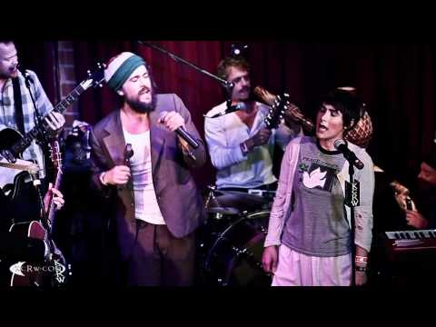 Edward Sharpe performing