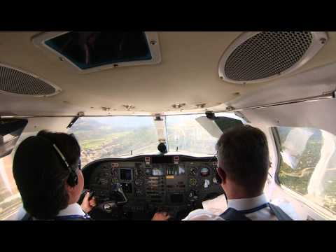 Very attractive Jung Sky Cessna 525 CJ crosswind landing in Dubrovnik.