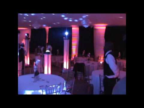 Wedding DJ Amazing Up Lighting Gig log with DJ Mikey Mike and Directsound with Vertical Trussing