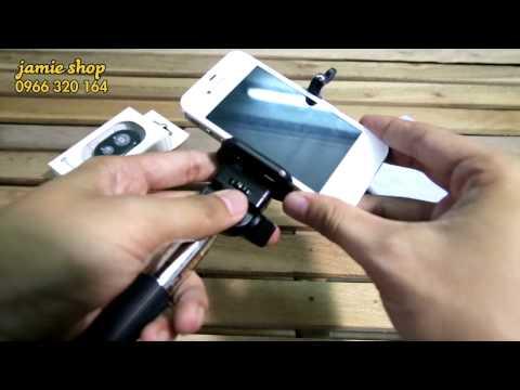 Hướng dẫn cài đặt gậy tự sướng + kẹp điện thoại + điều khiển bluetooth [Hà Nội]