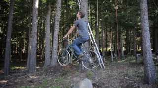 Lift bicycle for tree house
