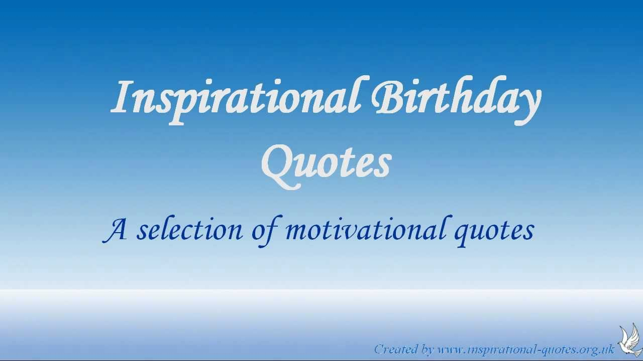 inspirational birthday quotes youtube