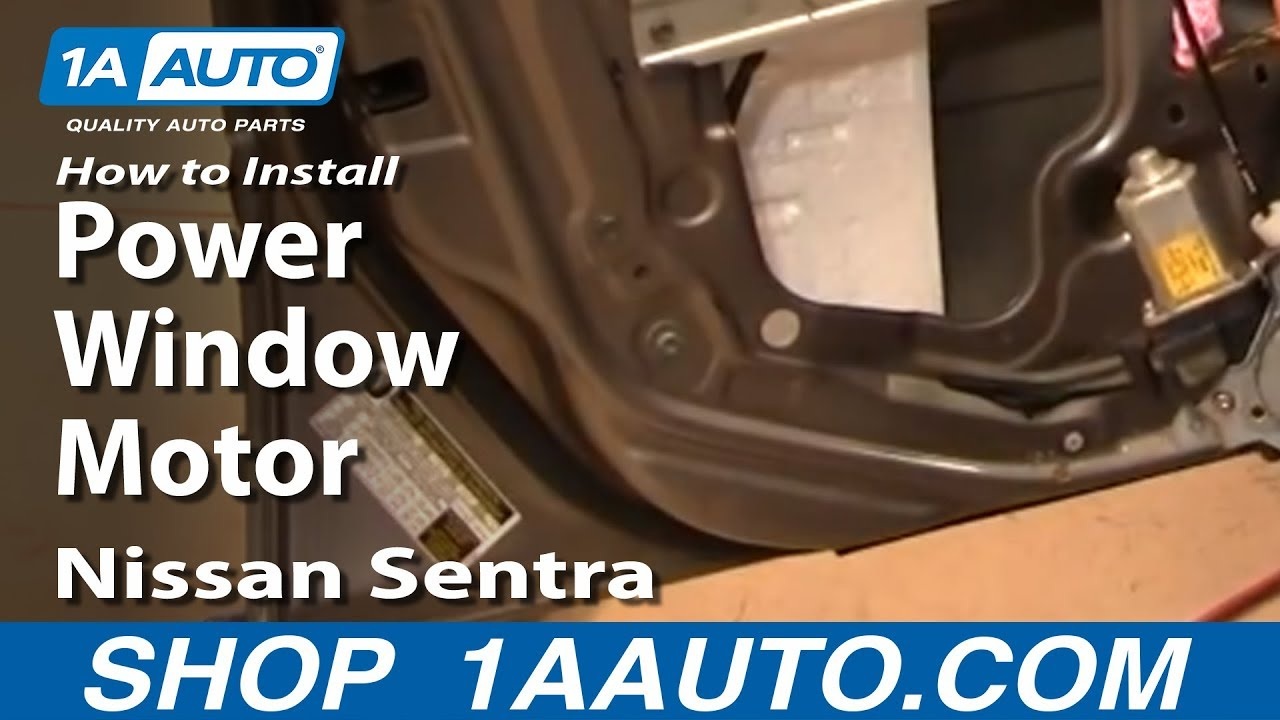 How to install replace power window motor or regulator for 2000 nissan quest power window switch