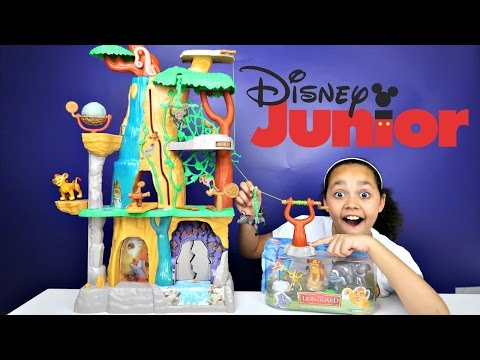Disney Junior Lion Guard Training Lair Play Set - Surprise Toys For Kids Unboxing Review