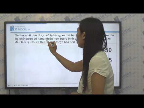 [Toán tiểu học][Toán 4, Toán lớp 4]-Cách tìm số trung bình cộng- [Lika-K12school]