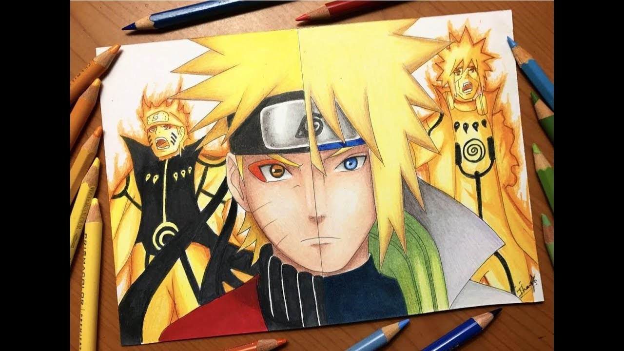 How to draw naruto sage mode step by step from naruto