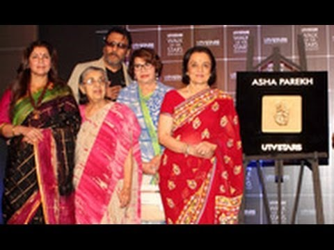 Asha Parekh Unveils Her Hand Impression Tile | UTV Walk of The Stars | Dimple Kapadia, Jackie Shroff