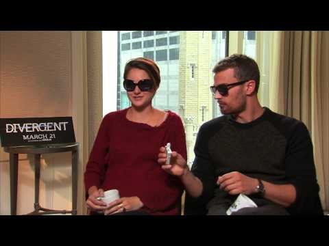 DIVERGENT Interview Shailene Woodley & Theo James!