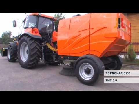 Ciągnik P5 Pronar 5135 wersja komunalna Ładowacz LC3 Zamiatarka ZMC 2.0