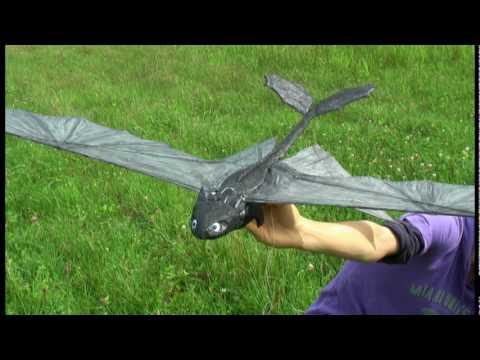 トゥース Night Fury 13-1 (RC ornithopter ) of How to train your Dragon :Second Flight