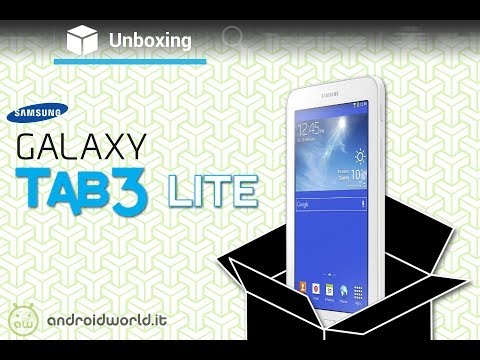 Samsung Galaxy Tab 3 Lite, unboxing in italiano