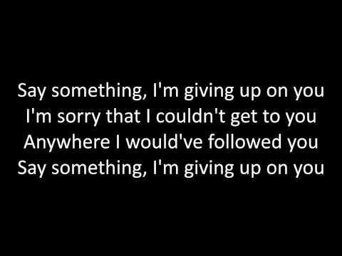 Timeflies - Say Something Lyrics