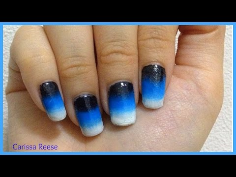 how i do easy ombre gradient nail art for beginners