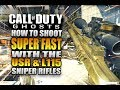 COD Ghosts - How to Shoot SUPER FAST with SNIPER RIFLES! Ghost Quickscoping & Trickshotting Tutorial