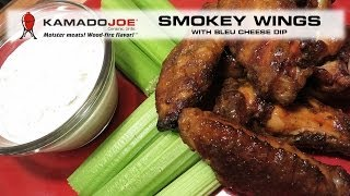 Smokey Hot Wings with Bleu Cheese Dip