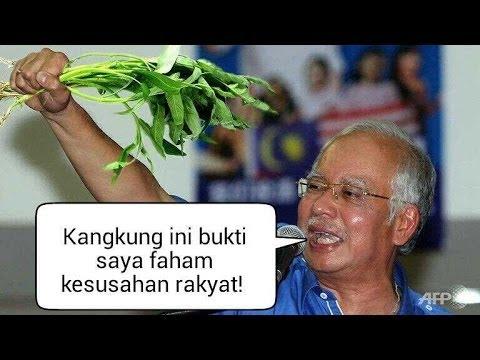 Ucapan Najib 'kangkung' hangat di alam maya