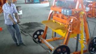 Small Scale Concrete Hollow Block Maker