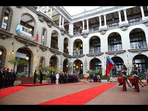 President Tsai arrives in Guatemala, receives welcome with military honors