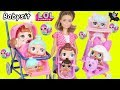 Surprise Dolls Barbie Baby Babysit Color Lil Sisters Playmobil Holiday Series 3 Unboxed