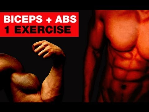 V-Cut RIPPED Abs and BIG Biceps - One Killer Exercise (abs and biceps)!