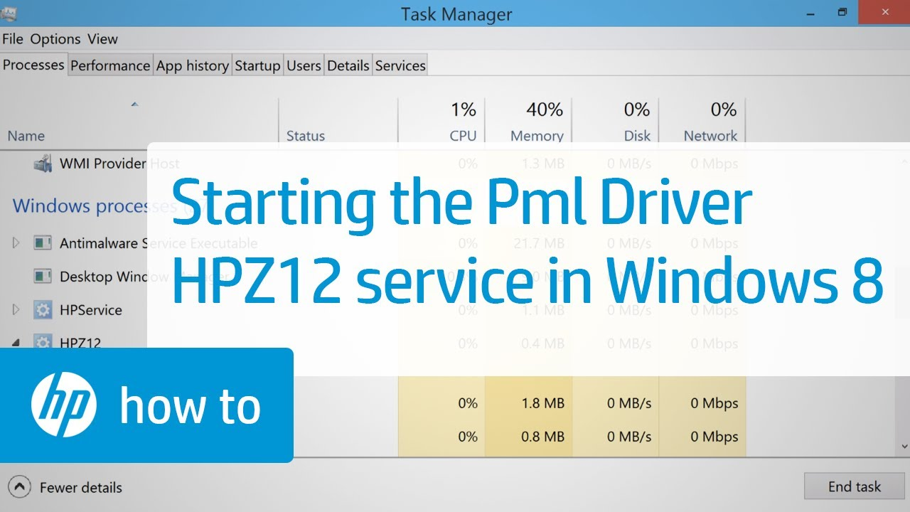 What Is Pml Driver Hpz12 Service