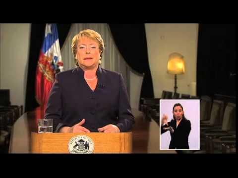 Michelle Bachelet sobre demanda marítima de Bolivia en La Haya