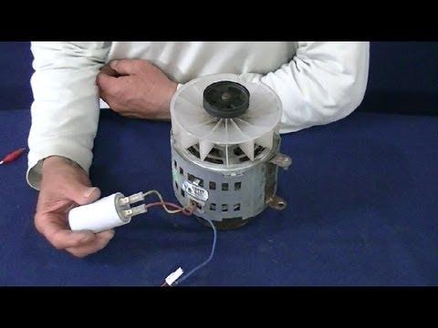 Como conectar motor monofasico (con condensador)--How to connect single phase motor (with capacitor)