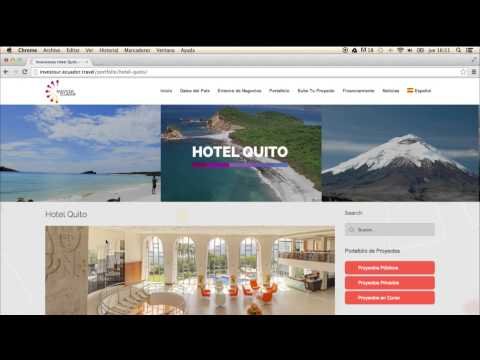 Investour.Ecuador.travel, the new website to attract investment in tourism to Ecuador