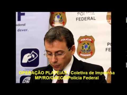 OPERA��O PLAT�IA - Coletiva de imprensa
