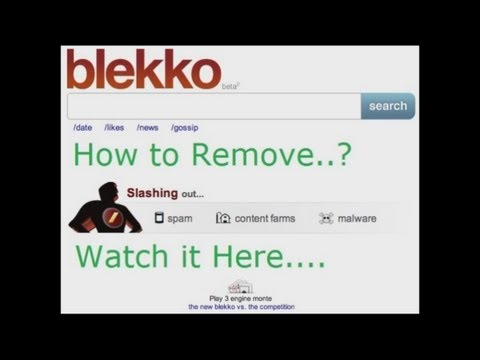 How to remove Blekko from chrome firefox-100% Working