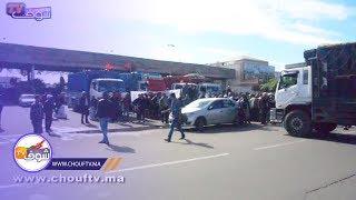 ارتفاع أسعار الوقود تخرج السائقين المهنيبن للاحتجاج أمام سوق الجملة بالبيضاء | خارج البلاطو