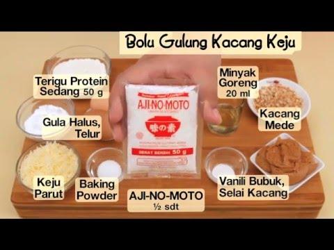 Dapur Umami - Bolu Gulung Kacang Keju