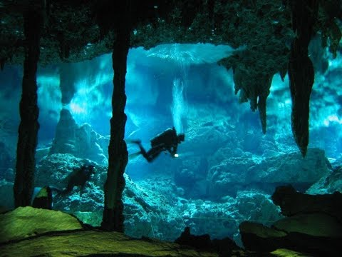 Extreme Deep Underwater Caves Diving