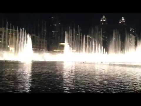 Burj khalifa musical fountain