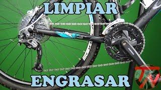 Limpiar transmisión y arreglar cadena de bici