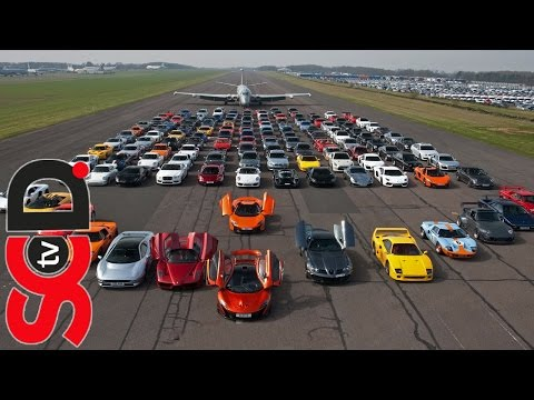 Secret Supercar Meet 2014 - P1, Enzo, SLR Edition, yellow F40, XJ220, 650S, GT40