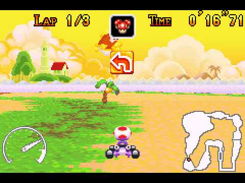 Mario Kart - Super Circuit - Cheep Cheep Island shortcut - User video