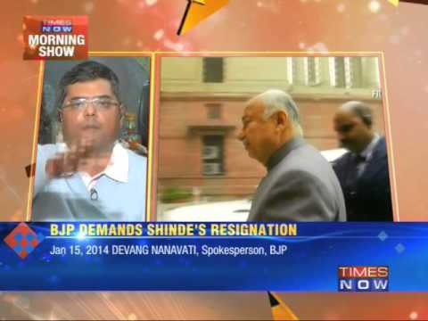 Government firefights, Sushil Kumar Shinde mute
