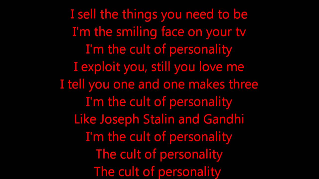 Living colour quot cult of personality quot lyrics youtube